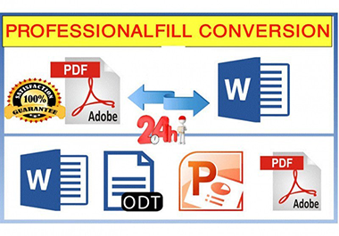 I will convert PDF to word or excel, powepoint and vice versa in 1 HOURS