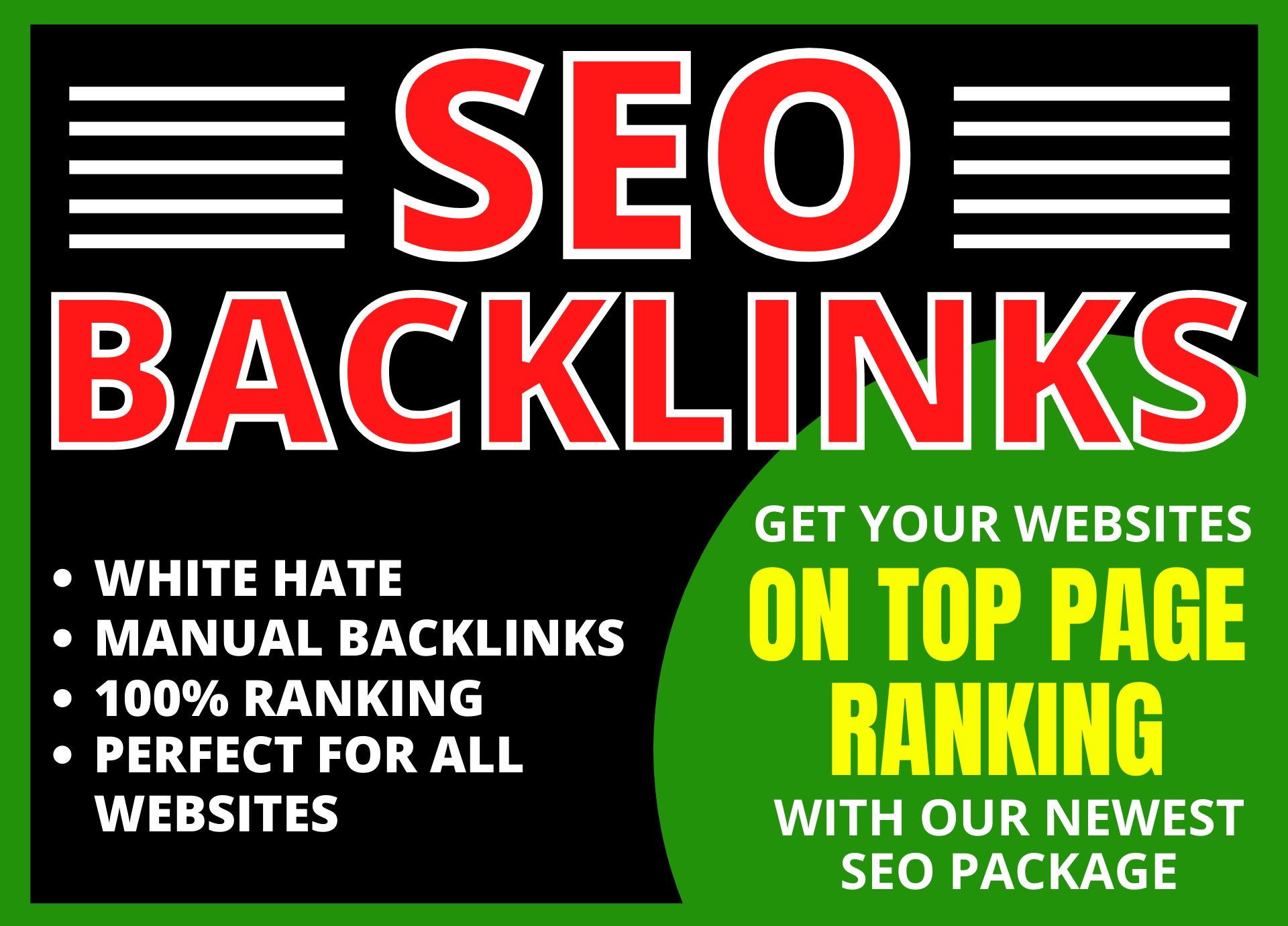 provide high authority seo backlinks pakage with white hat methode for google top ranking