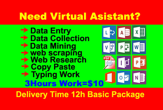 I will do all type of data entry,  mining,  scraping,  internet research work