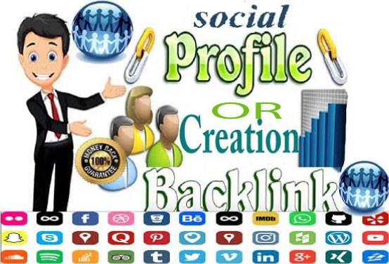 Manually Create 55 Social Profiles Set Up or Profile Creation for boost your business