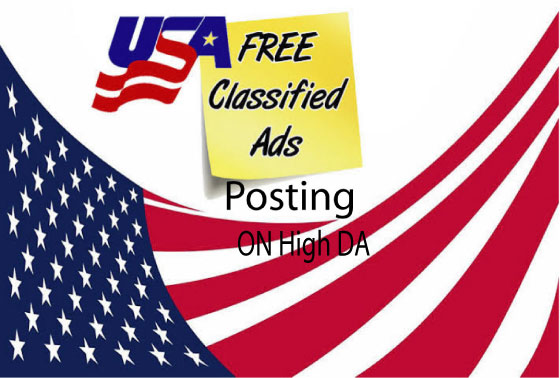 Manually Build 50 Classified Ads posting or Classified Ads on High UK & USA websites
