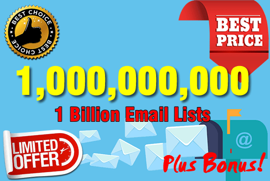 1 Billion database of email marketing list and free sending method