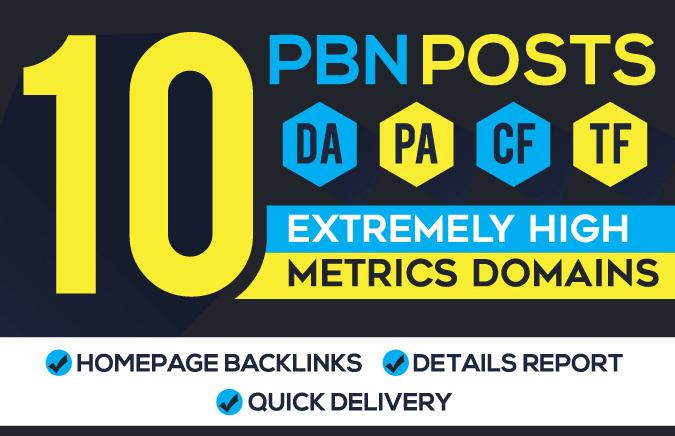 I Will Manually Create 10 High Metrics Homepage PBN Backlinks
