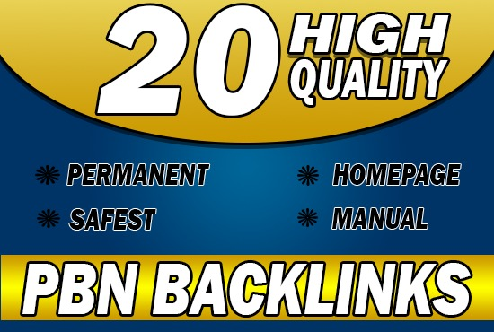 Provide 20 HQ PBN backlinks High DA PA TF CF