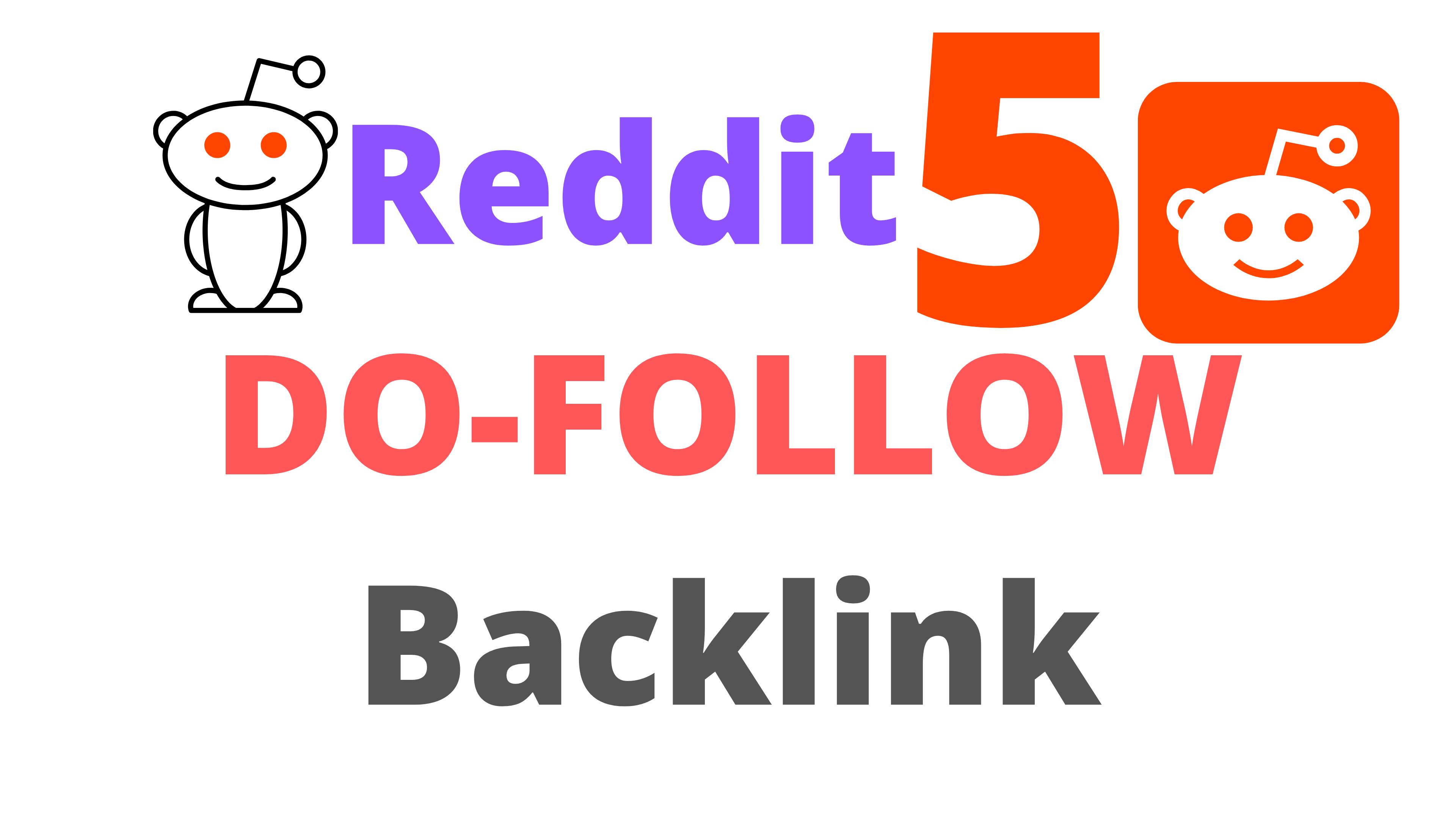Reddit 5 Do-Follow Backlinks 95 DA,  PA Limited Time Offer
