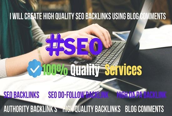 I will create 20 DA 30+ do-follow SEO backlinks manually
