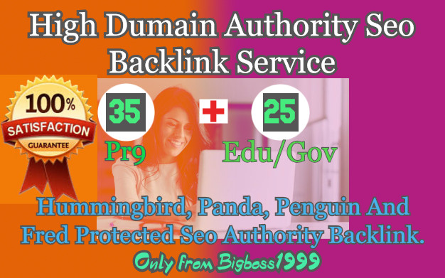 35 Pr9 + 25 Edu/Gov High SEO Authority Backlinks - Fire Your Google Ranking