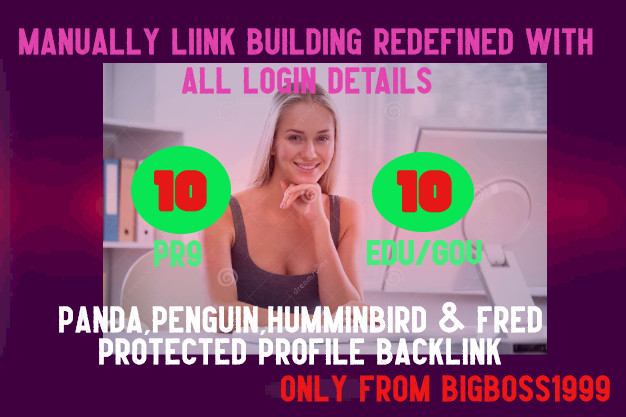 Fire your google Ranking with 10 Pr9+ 10 Edu/Gov Safe seo Authority Backlink