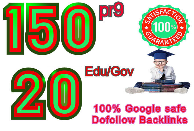 I will manually do 150 pr9 & 20 edu gov,  Moz DA 50-100,  Dofollow Profile backlinks