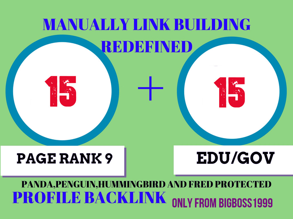 Fire your google Ranking with 15 Pr9+ 15 Edu/Gov Safe seo Authority Backlinks