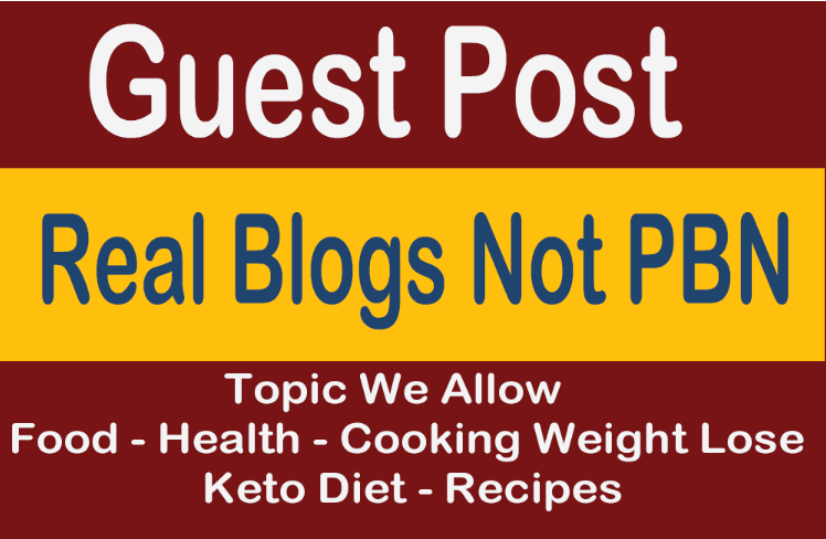 Guest Post On Health Blog Not PBN