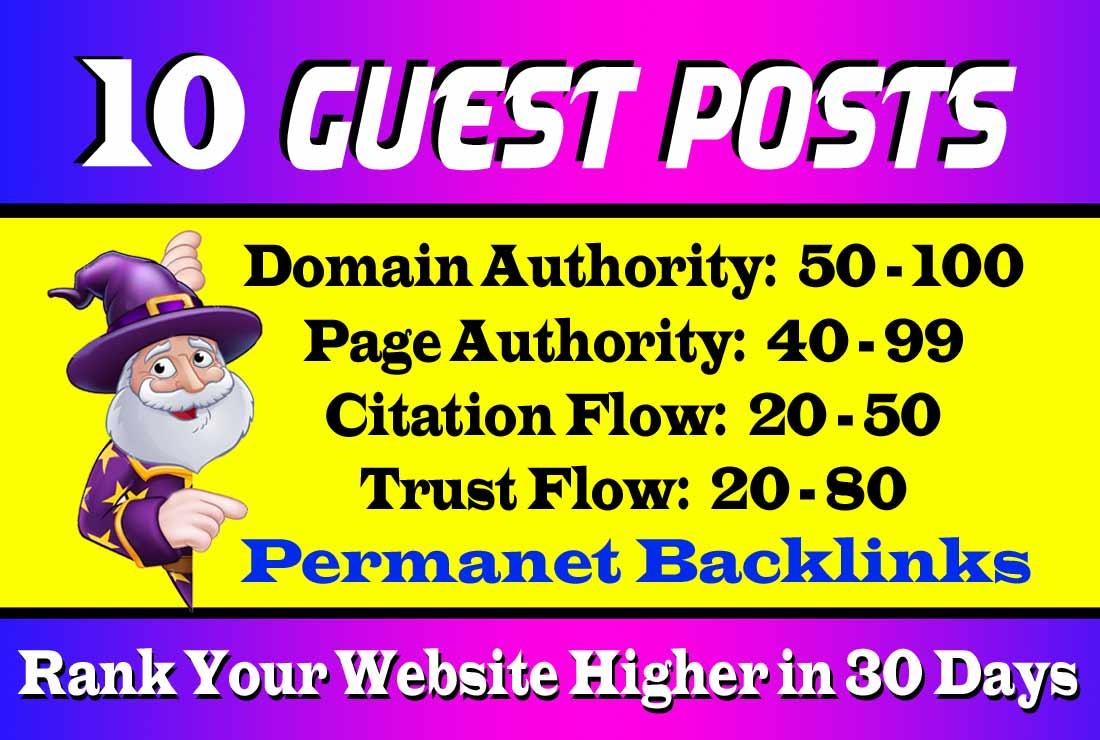 10 HQ Guest Posts to Increase SEO Ranking
