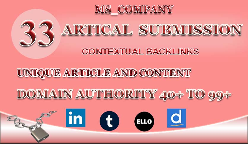 I will create 25 article submission on high da pa