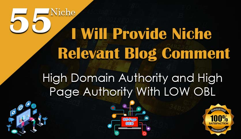 I will create 55 manually niche blog comment backlinks