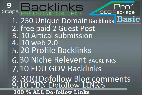 Rank your website 2020 SEO PR-10 Backlinks
