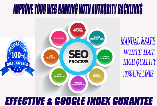 I will build manual SEO high quality backlinks for your website