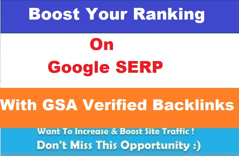 Provide You 1 Million GSA Verified Backlinks for Ranking