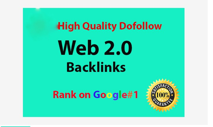 Build 20 high quality web 2.0 dofollow backlinks for ranking