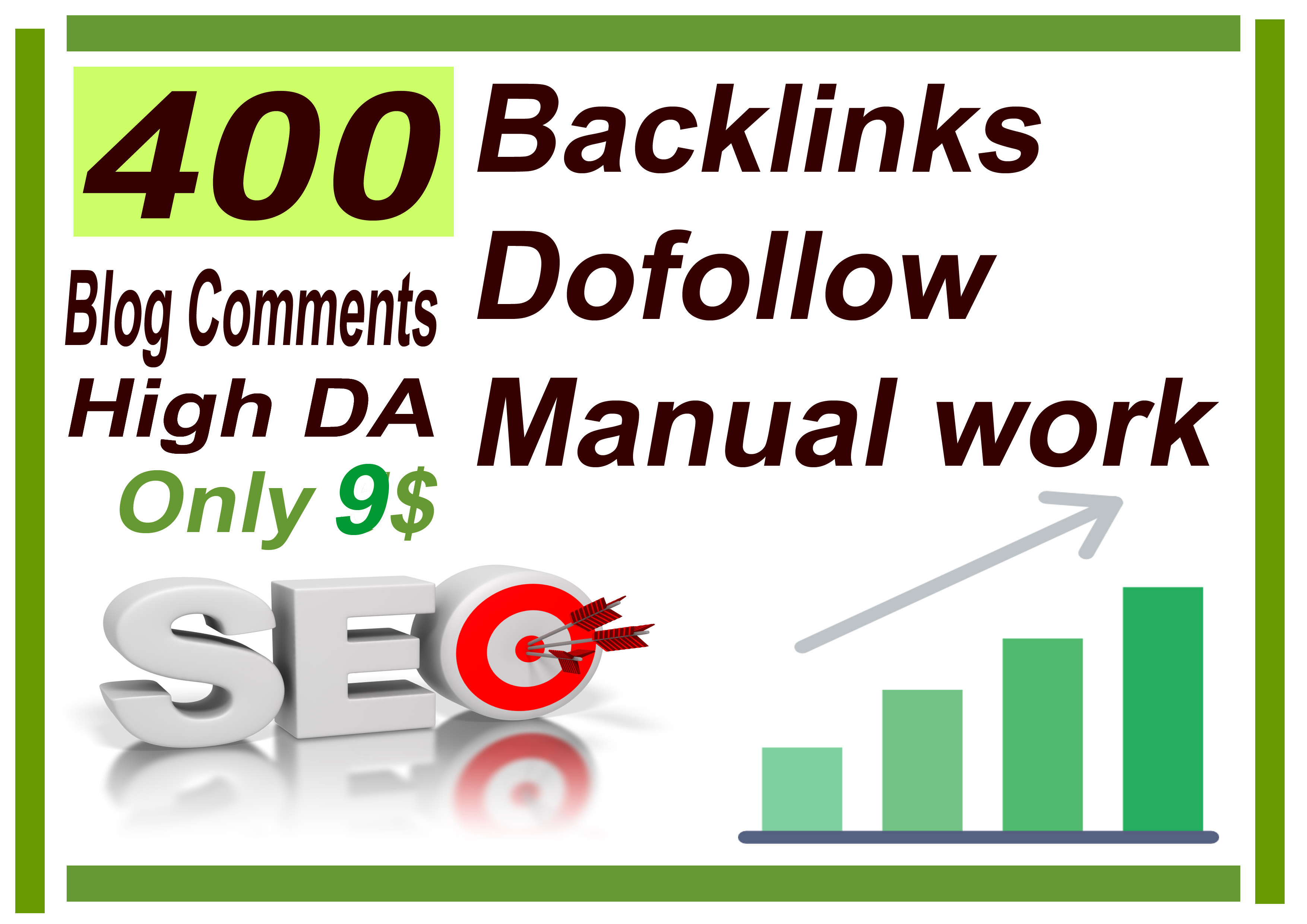 I will do 400 Backlinks dofollow High DA