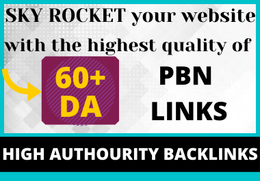 build 2 High Authority Backlink with DA 60+