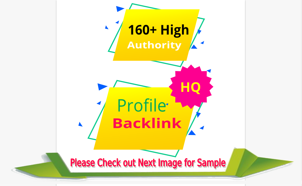 Do manually 160 social media profile seo backlinks High authority DA PA for google ranking