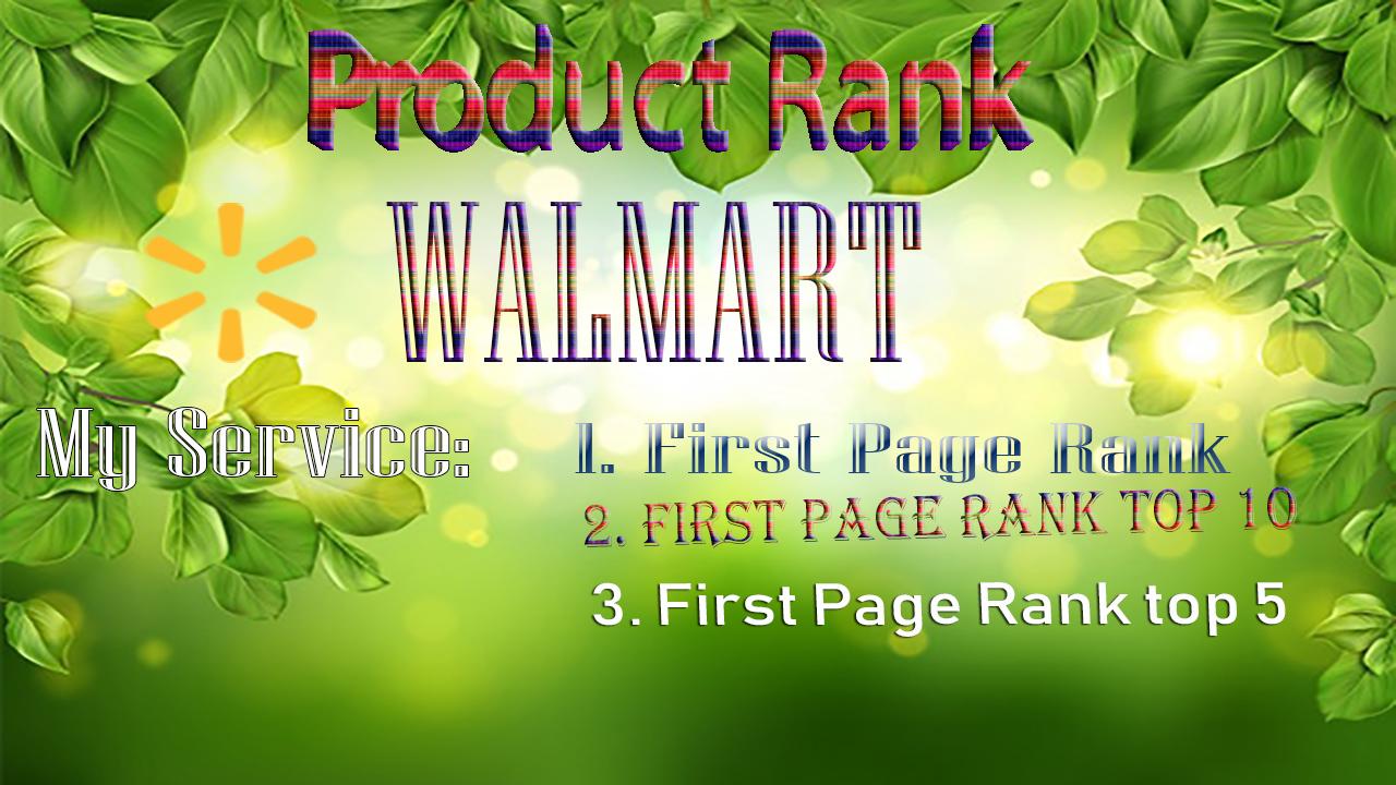 Walmart products ranking Walmart SEO service first page