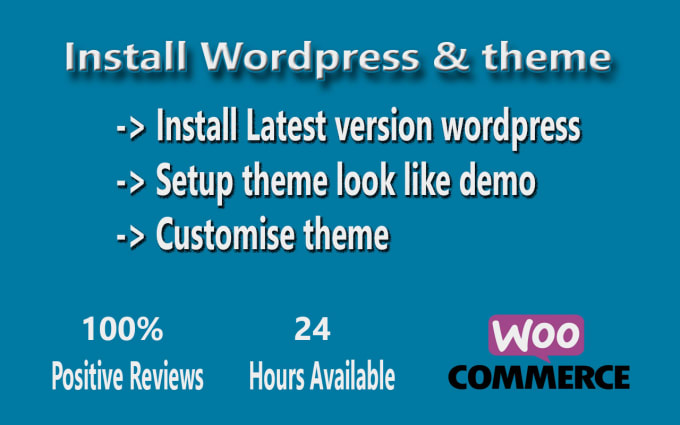 Install wordpress and setup theme look like demo