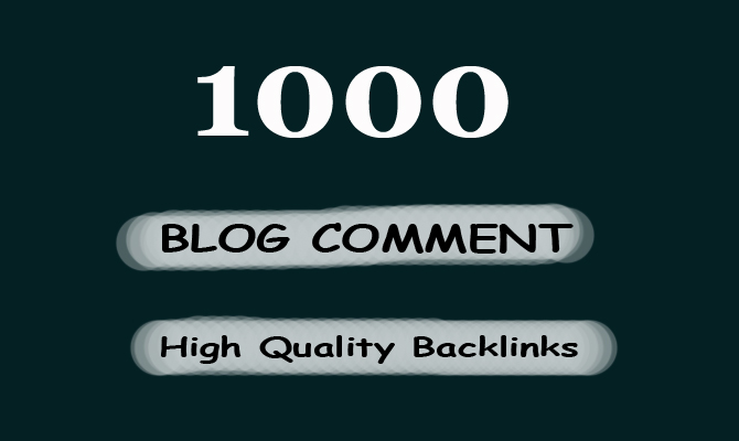 i will create 1000 Blog Comment Backlinks for any website