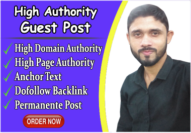 I will do Publish a Guest Post on a High DA,  PA