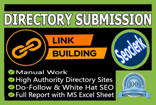 i will create 30 Dofollow Directory Submissions with SEO Backlinks