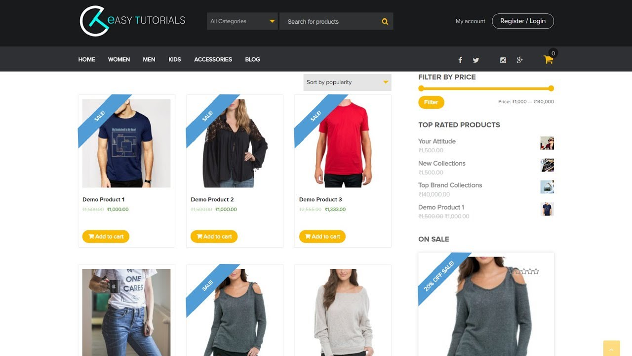 I will build wordpress responsive ecommerce website online store