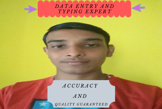 I will provide all kinds of data entry works