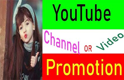 Manually YouTube video Promotion & Marketing from Real user.