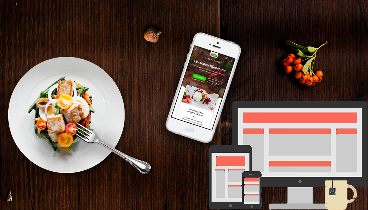 I will create your restaurant website