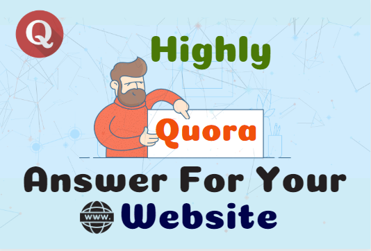 Niche targeted highly 10 Quora Answer for your site