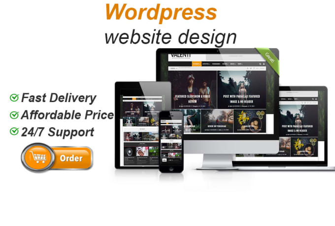 Create a modern word press website design or blog