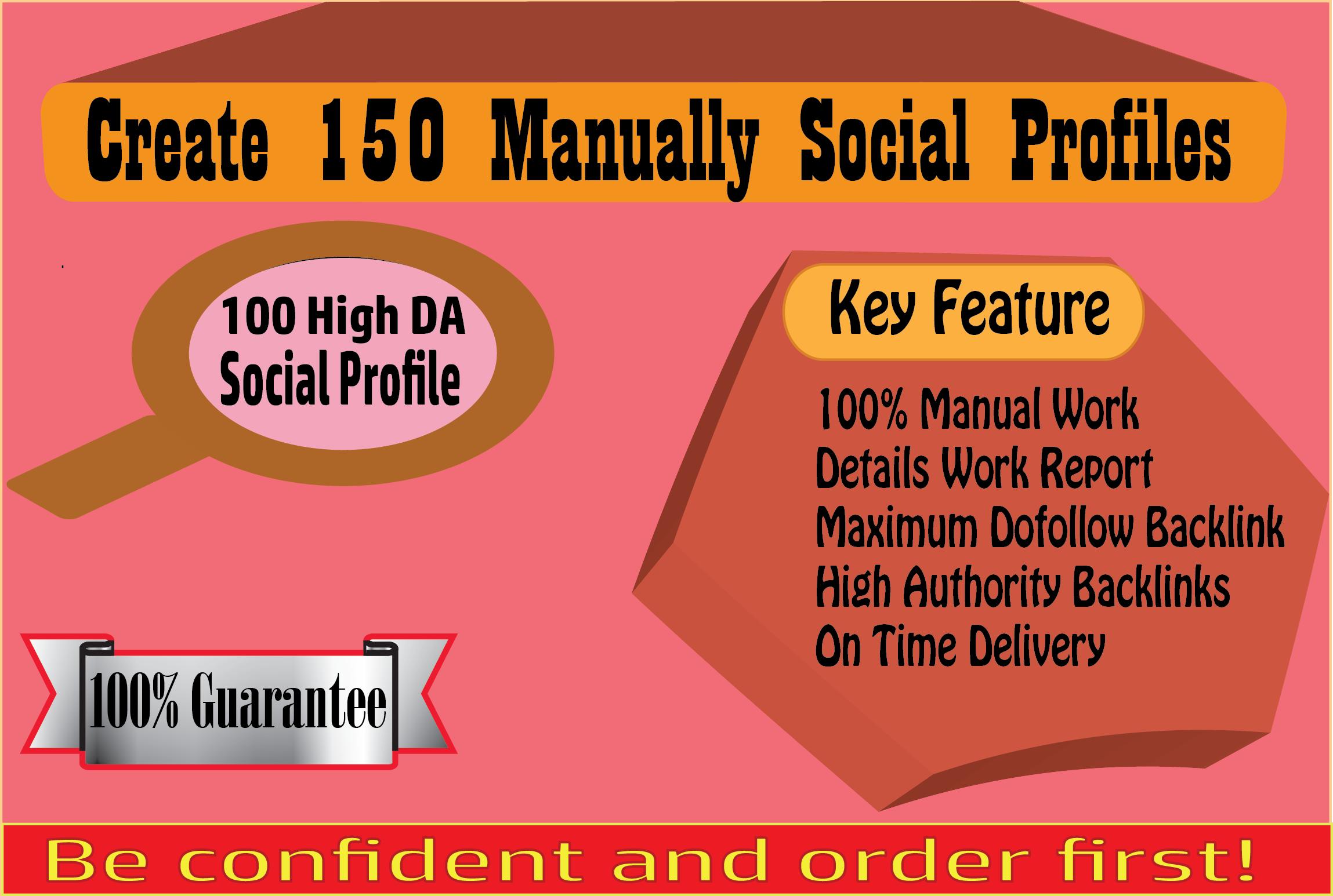I Will Create 30 Manually Social Profiles