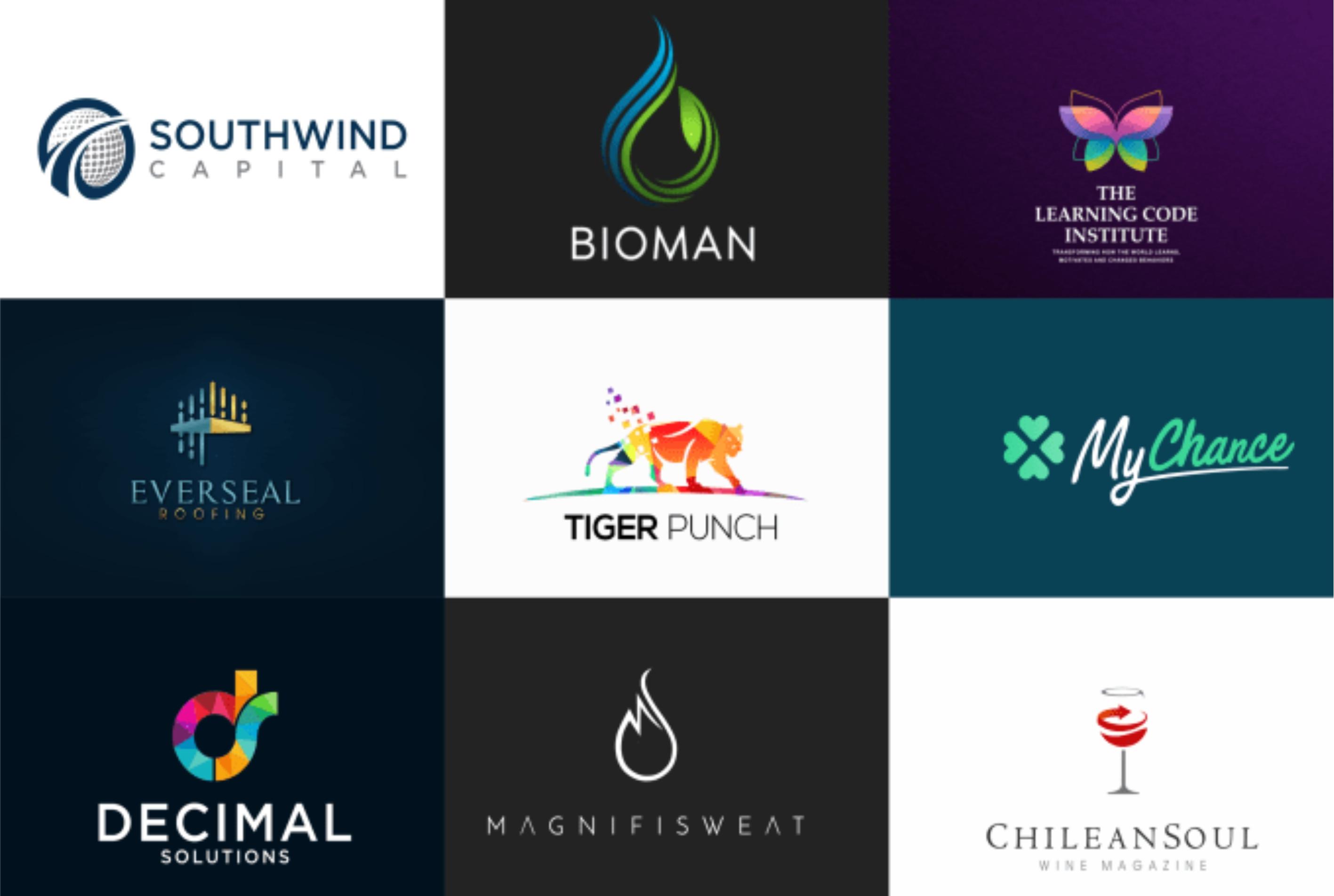 design flat minimalist logo and favicon