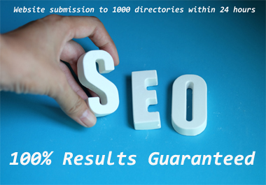 100 Guaranteed, 1000 SEO-friendly directory submission service
