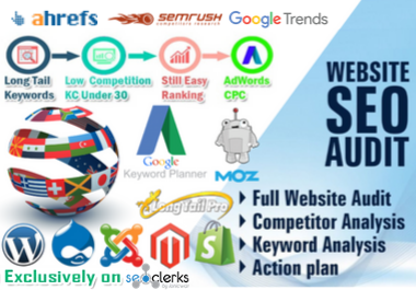 I will do SEO keyword research,  competitor analysis and website audit report