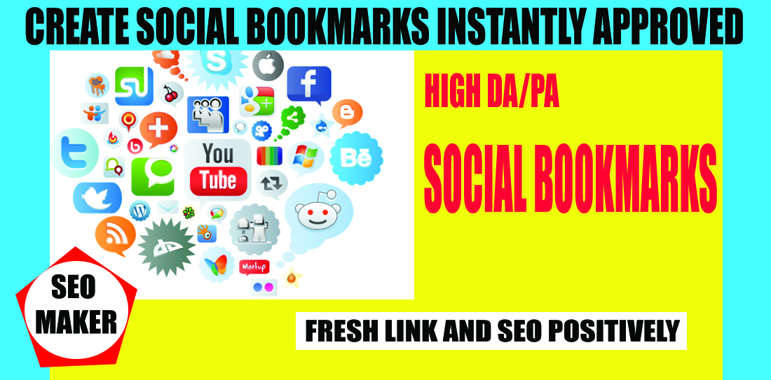 Create 30 social bookmarks Instantly approved