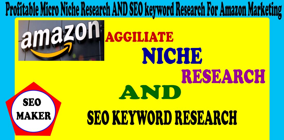 I will do profitable micro niche research and SEO keyword research for amazon Affiliate Marketing