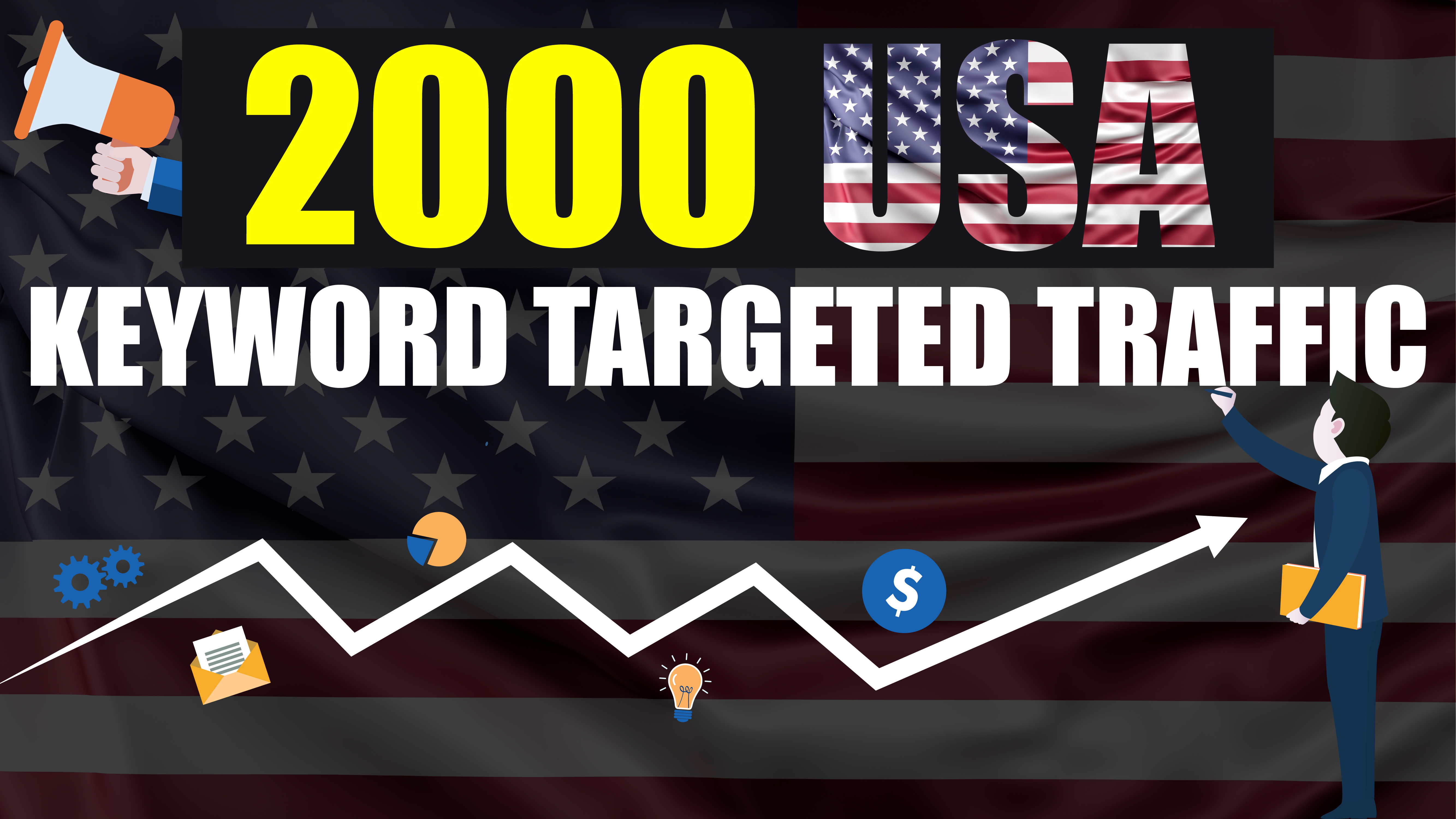 2.000 real USA Visitors to your Website - Keyword Targeted