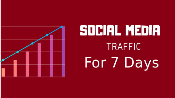 Social Media Traffic for Your Site for 7 days