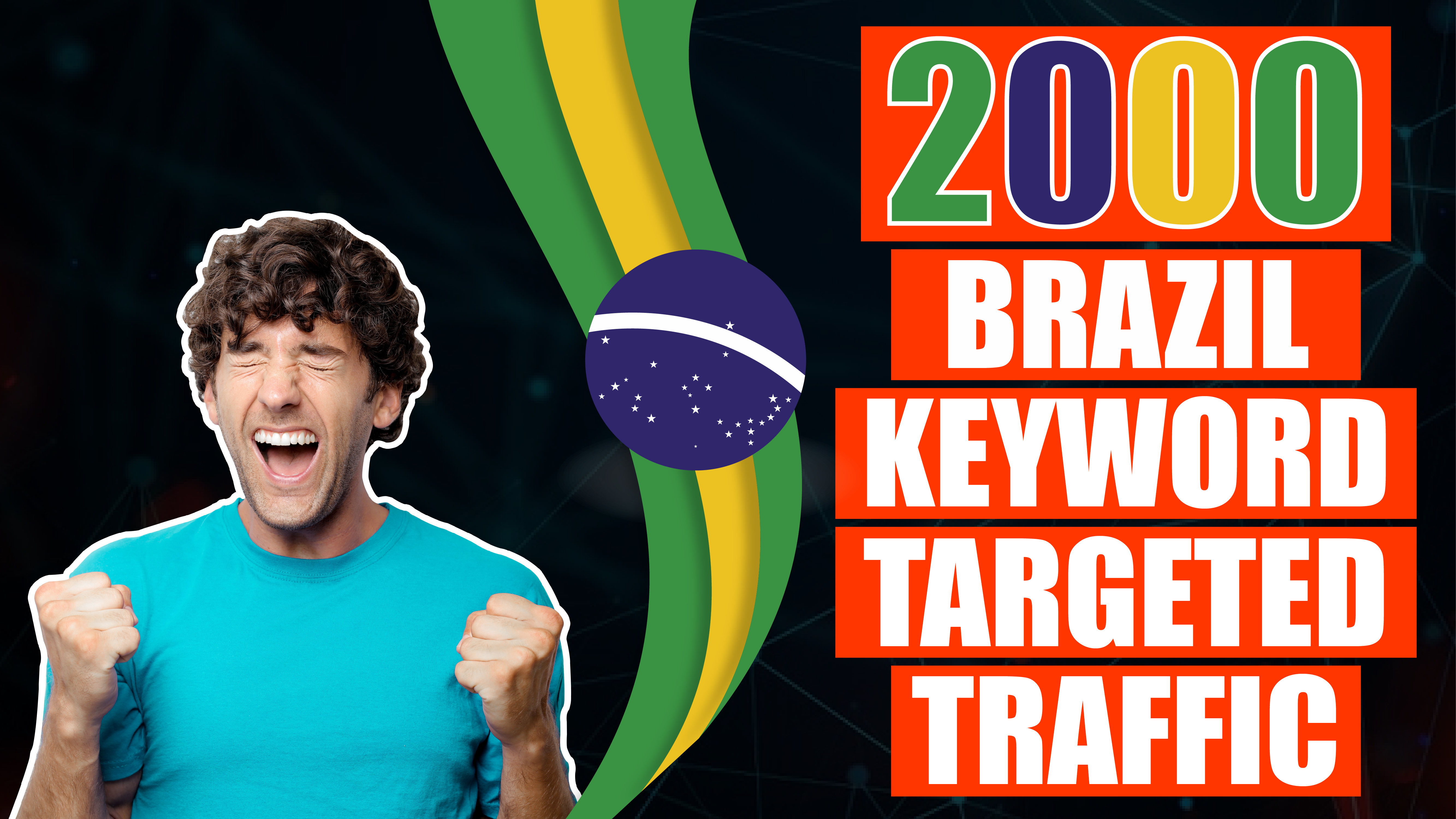 2.000 real Brazil Visitors to your Website - Keyword Targeted