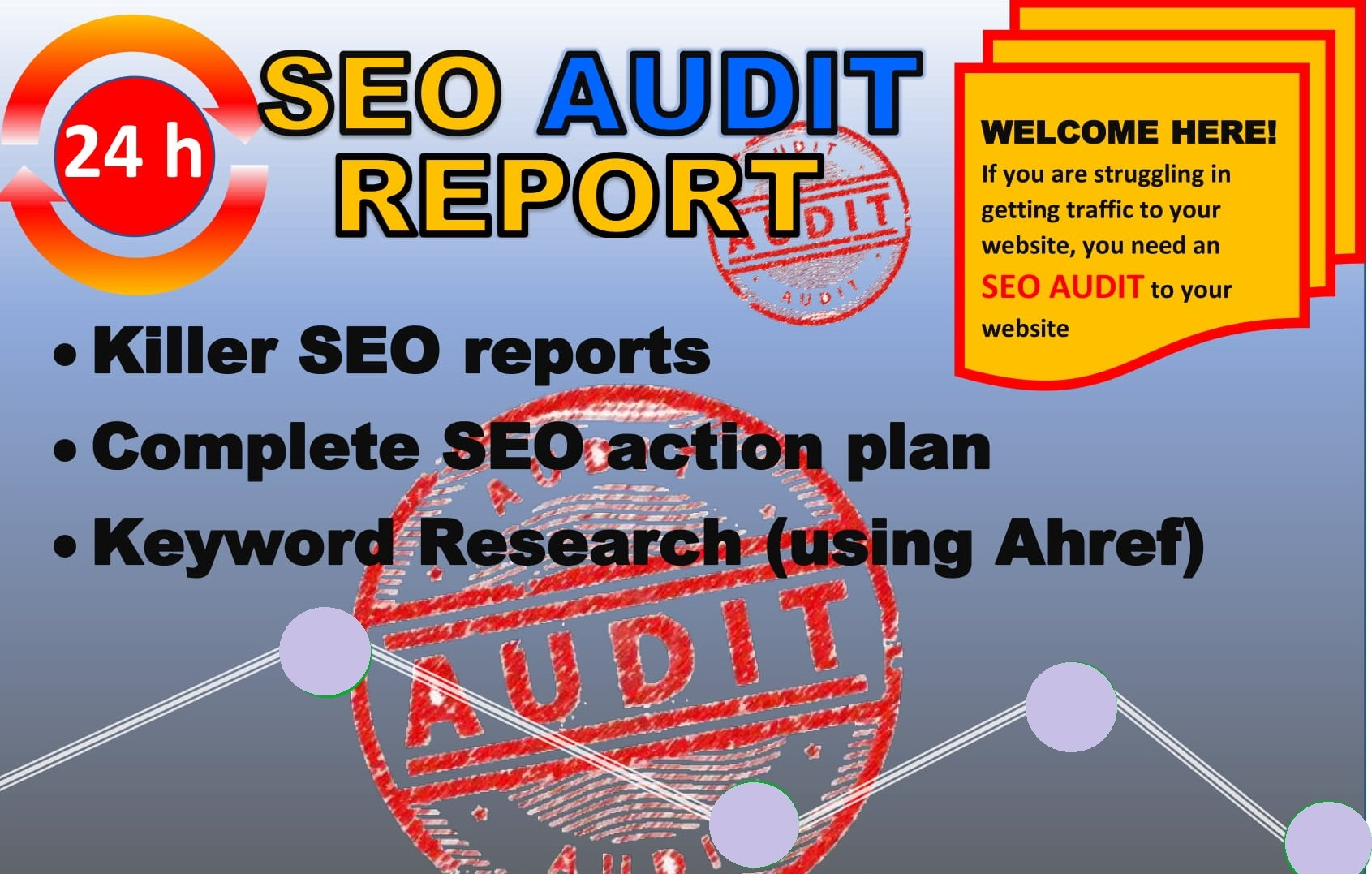 provide detailed SEO report, competitor audit and action plan