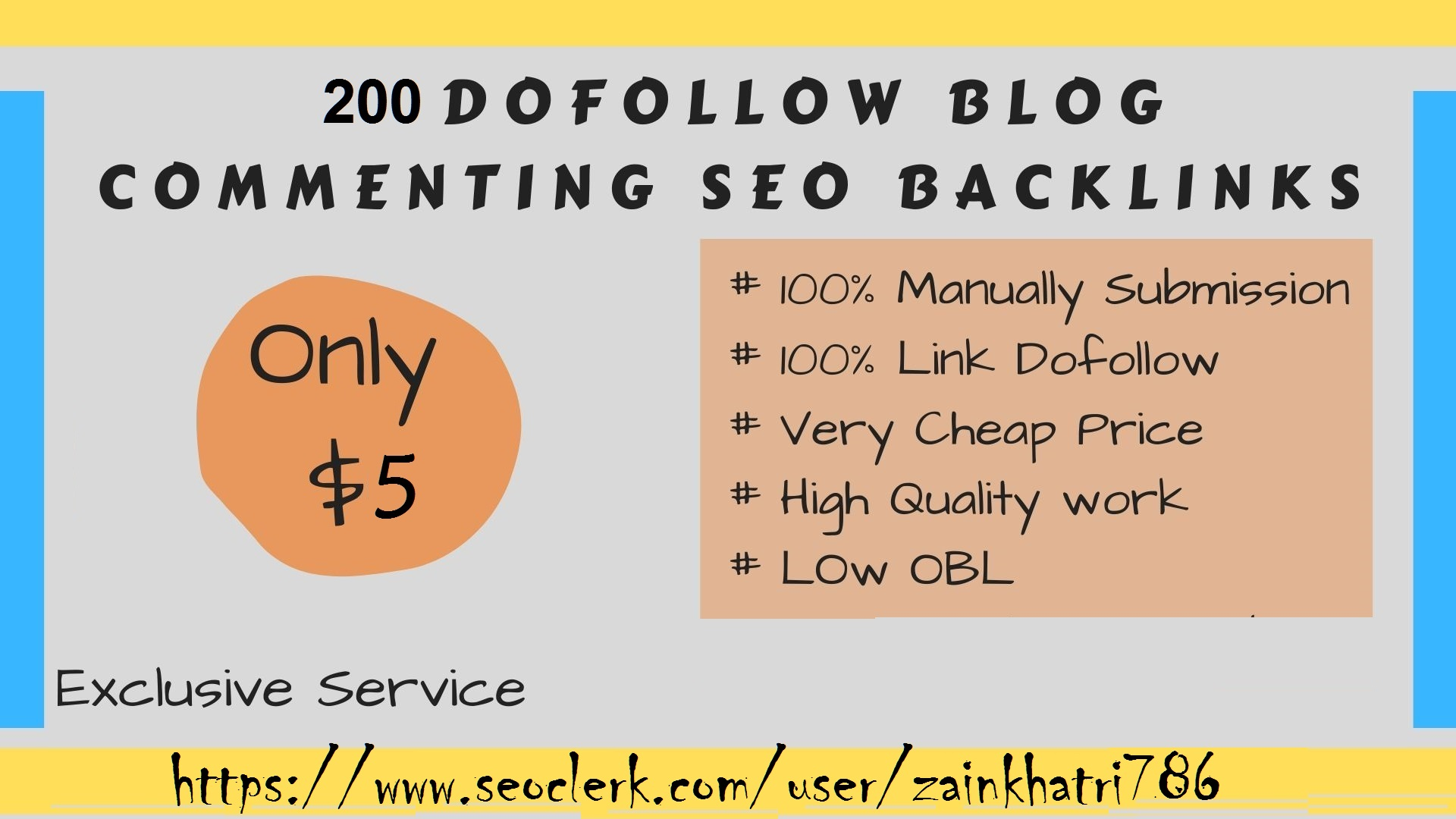 I will do 200 dofollow blog comments in low obl high da pa sites