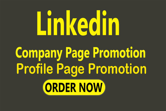 I will do linkedin promotion for your company page or profile page