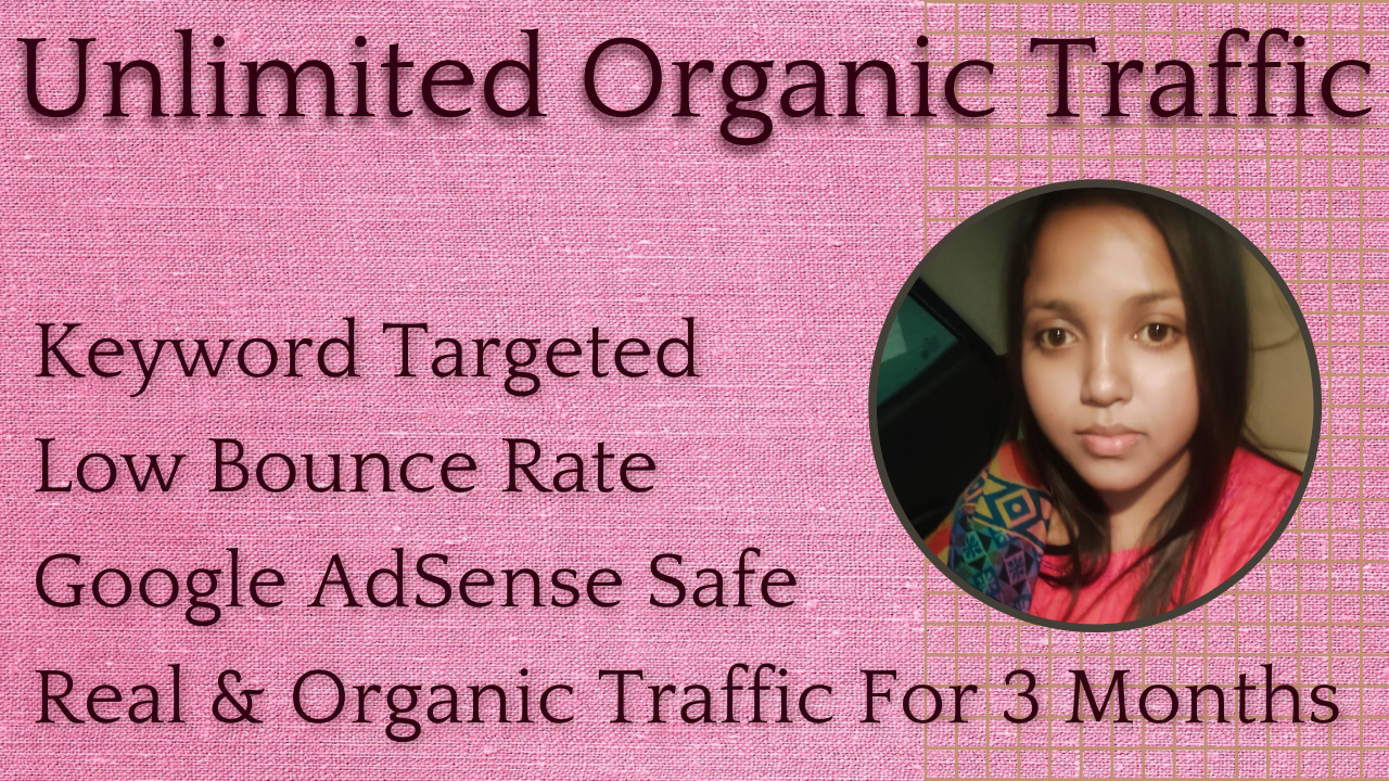 Unlimited Real and Organic Traffic For 3 Months