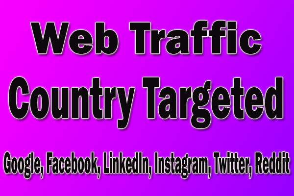 send 2, 00,000 targeted organic web traffic For 25 Days